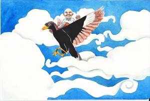 Commissioned farewell card. 2012. Farewell card.