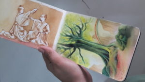 vjjoson painting yggradsil tree moleskine watercolor
