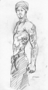 Drink and Draw. 2013. Pencil.
