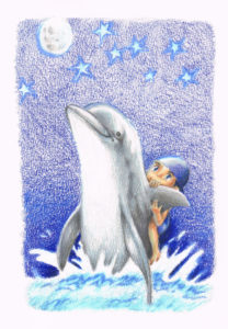 "2010. ""Dolphin Ride."" Book illustration."