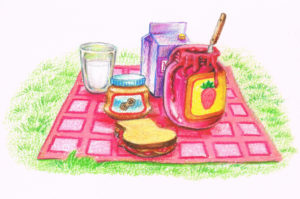 "2010. ""Picnic."" Book illustration."
